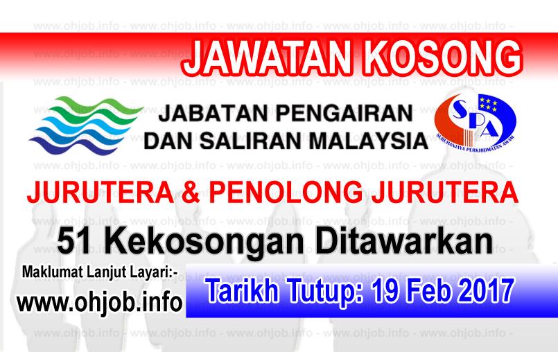 Jawatan Kerja Kosong Jabatan Pengairan dan Saliran Malaysia logo www.ohjob.info februari 2017