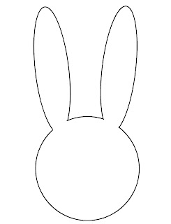 easter bunny face template