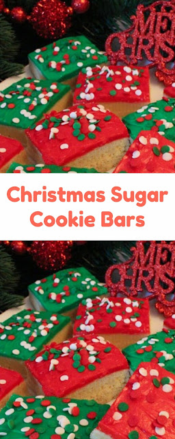 Christmas Sugar Cookie Bars