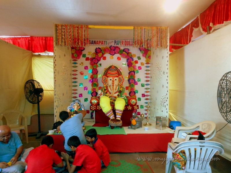 Eco friendly lovely Ganpati from paper, Ganesh Chaturthi Mumbai Pandal Hopping