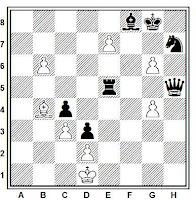 Estudio artístico de ajedrez de Harold Maurice Lommer, Journal de Geneve, 1933