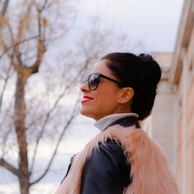 OUTFIT Faux Fur Vest, chaleco de pelo rosa