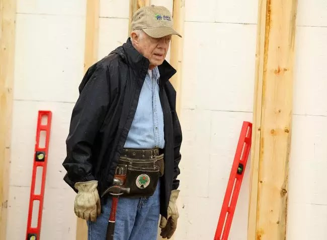 94-Year-Old Jimmy Carter Is Building Homes For The Poor Again Only Months After Hip Surgery