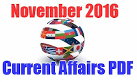 PDF of November 2016 Current Affairs