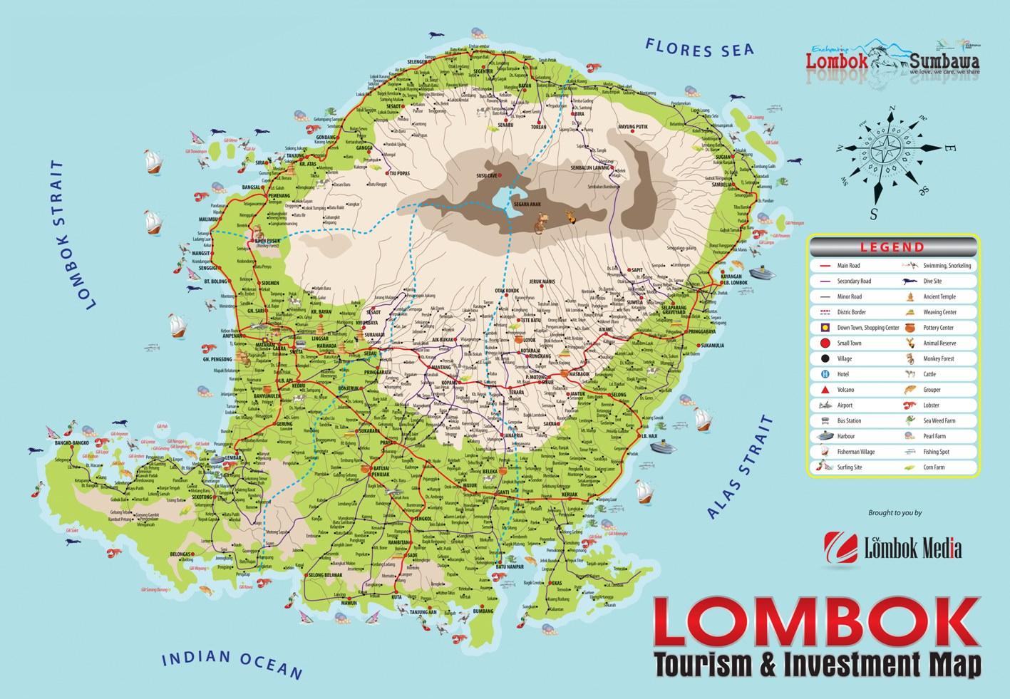 land for sale senggigi beach map of lombok