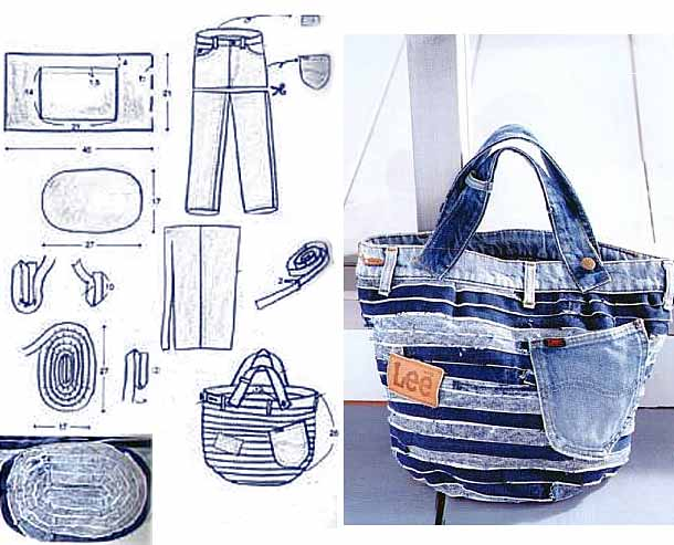 Jeans Bag Patterns 12 Amazing Recycled Jeans Bags With Patterns