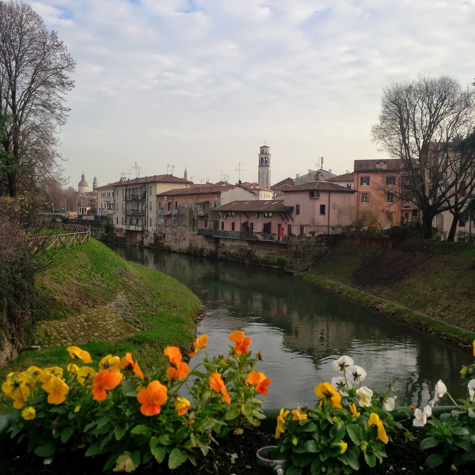 An alternative view of Vicenza with the river Bacchiglione