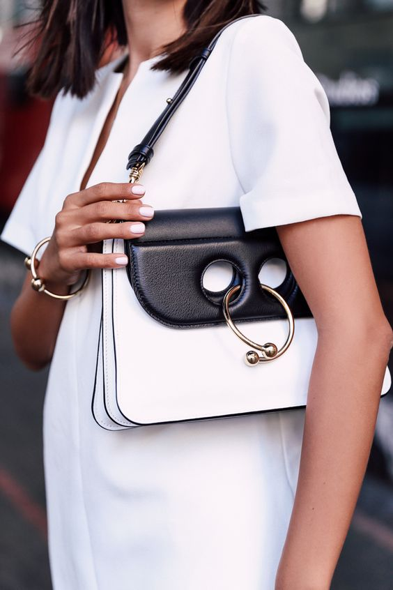 Viva Luxury Black White J.W. Anderson Pierce Bag