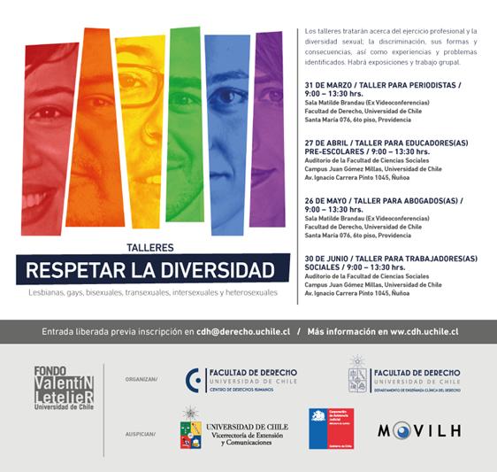 Invitación: Taller sobre derechos humanos y respeto a la diversidad sexual para periodistas