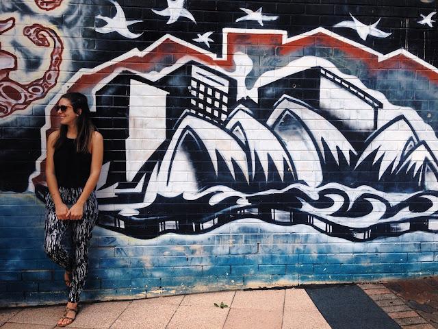 Sydney Opera House graffiti wall
