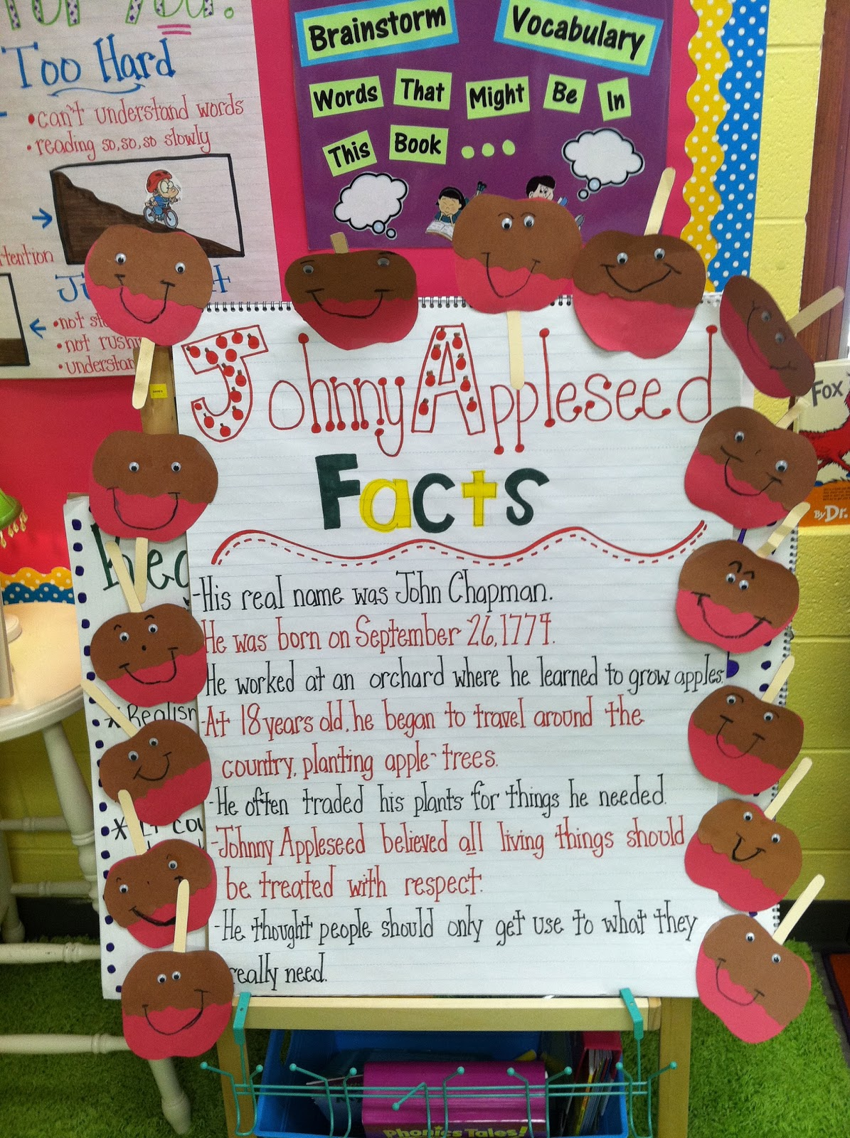 Life In First Grade Johnny Appleseed Week And A Few Halloween Things