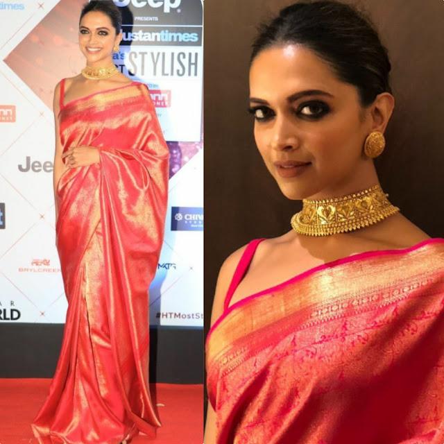 Deepika Padukone in a Sari