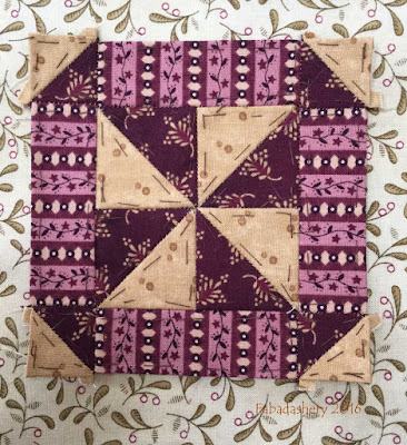 Dear Jane Quilt - Block E3 Paddle Wheels