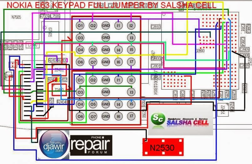 Nokia E63 Keypad Jumper Solution Tested Diagram