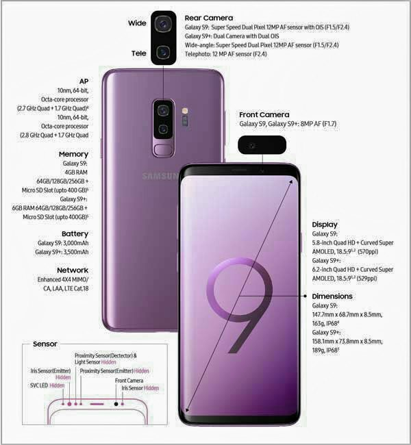 s9+ features