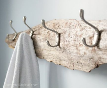 Driftwood Wall Hook Rack