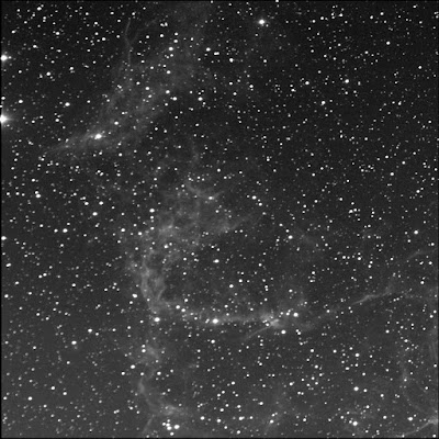 a portion of the RASC Finest diffuse nebula NGC 6995 luminance
