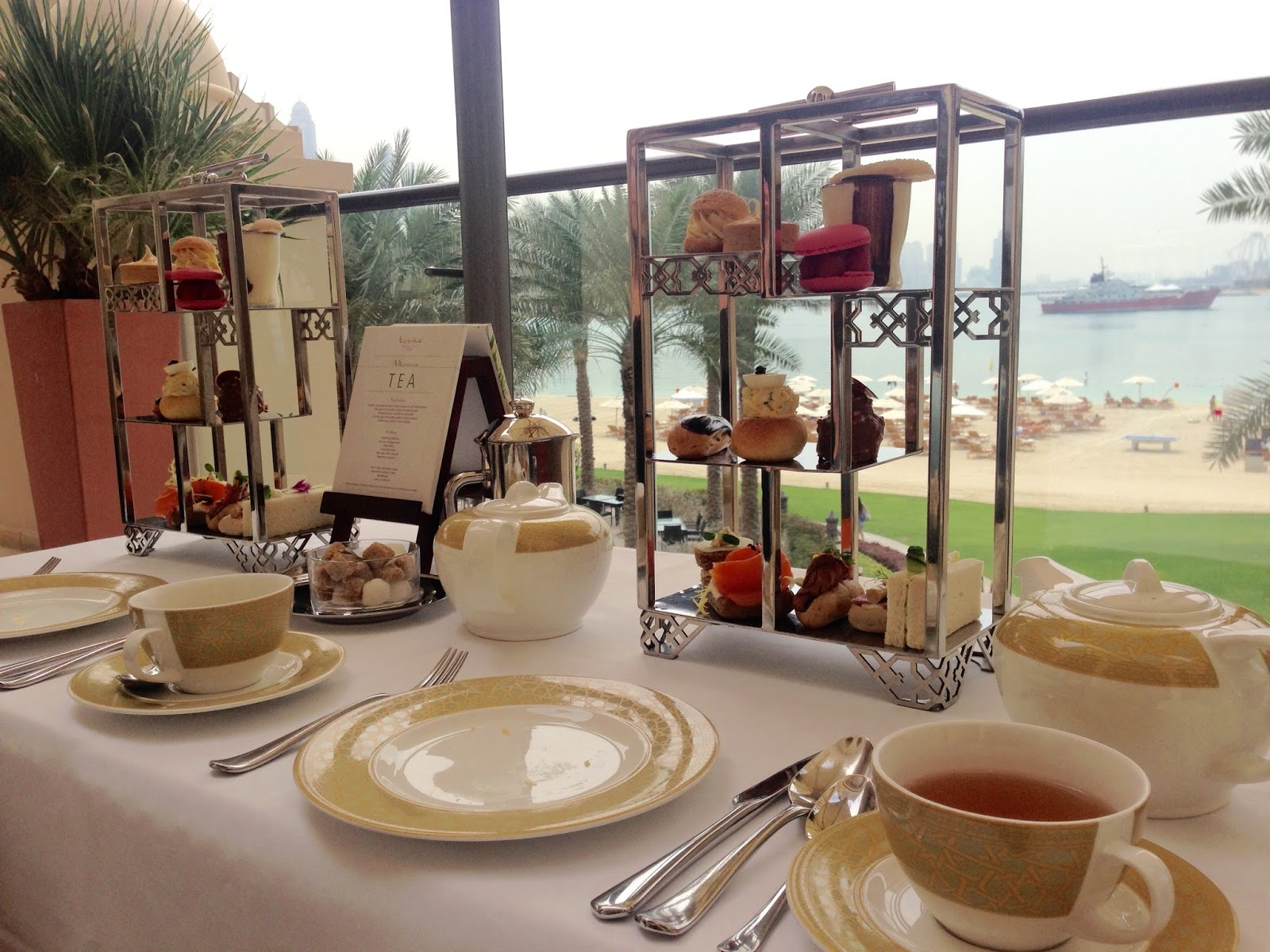 Afternoon tea at Fairmont The Palm Dubai