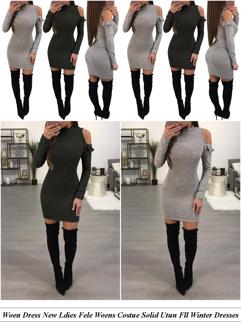 Sequin Dress Mini Long Sleeve - Vintage Clothes Near Me - Elegant Evening Dresses For The Fuller Figure