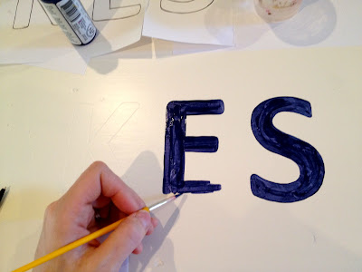 handpainting letters without vinyl cutting machine
