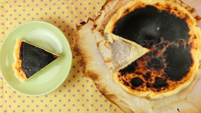 トースターで簡単!バスク風チーズケーキ