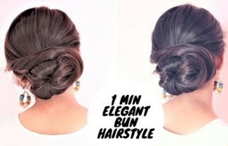 1 Min Elegant Bun Hairstyle For Medium Hair / Simple Updo Hairstyle