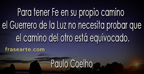 Frases de fe - Paulo Coelho
