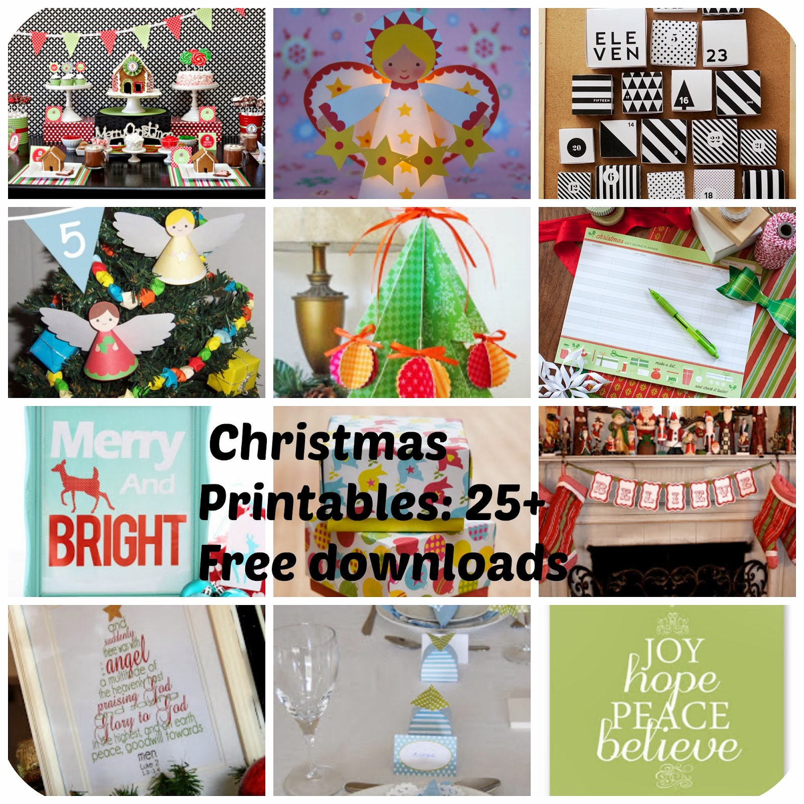 Tinker Tinker Craft Christmas Printables Free Downloads for