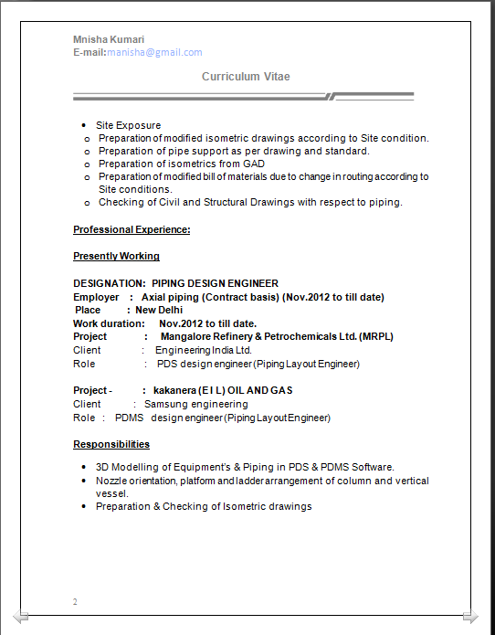 Dynamic Resume Cv Formats Mechanical Engineer