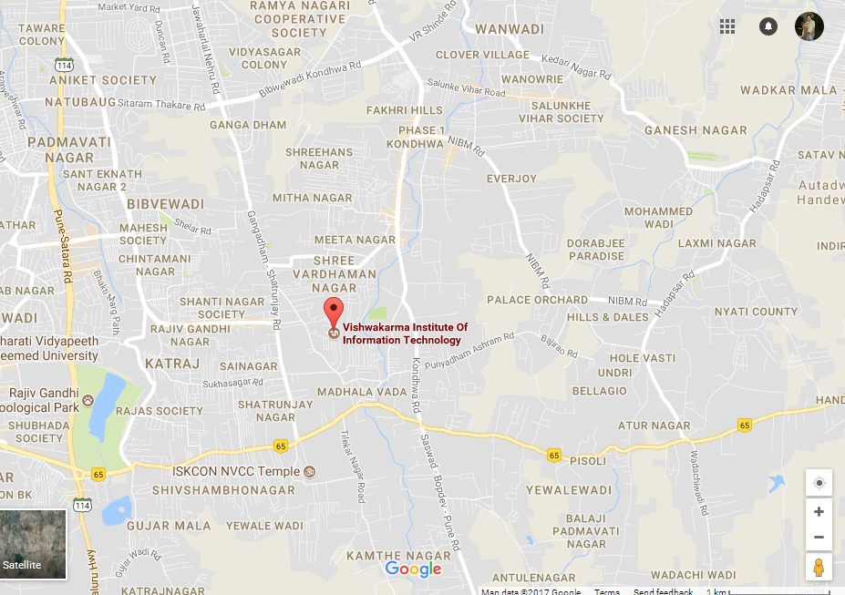VIIT MAP Location