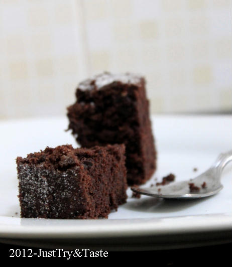 Resep Eggless Tofu Chocolate Cake