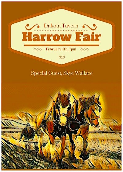 Harrow Fair @ The Dakota Tavern, February 4