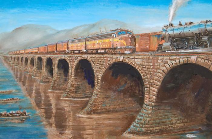 Железнодорожные картины. Christopher Jenkins 7
