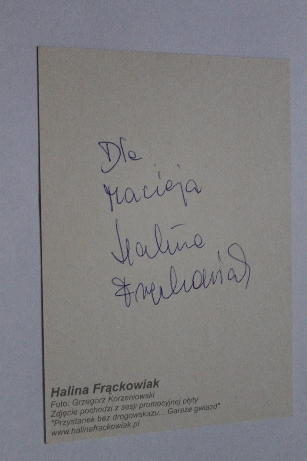 Autografy Macka Macderer Halina Frackowiak