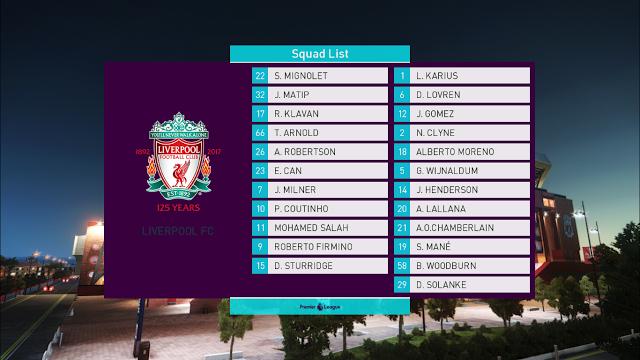 PES 2018 Premier League Scoreboard dari Ginda01