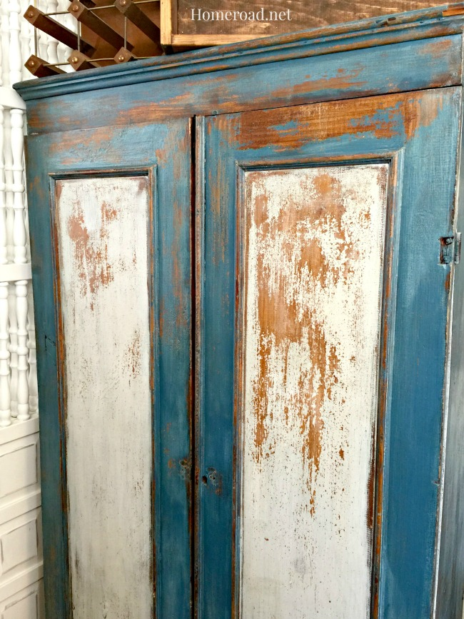A Chippy Milk Painted Cupboard