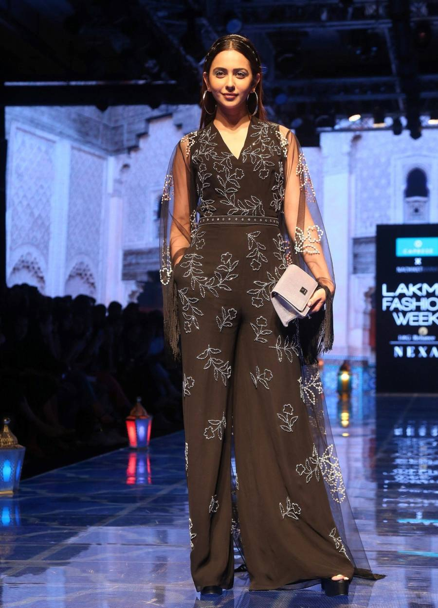 Indian model Rakul Preet Singh At Lakme Fashion Week 2019
