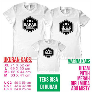 kaos family couple nama