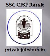 SSC CISF Result