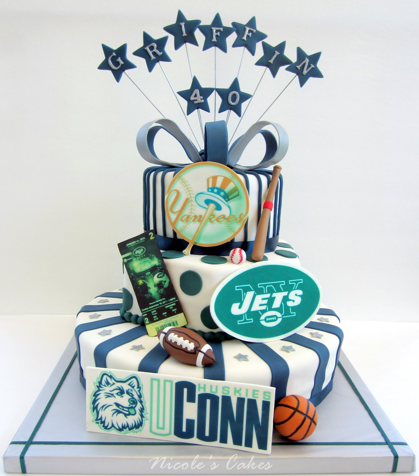 Sporty 40th Birthday Cake