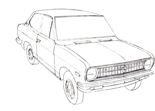 JesCarClassic: DATSUN 1200 B110 1970-1973