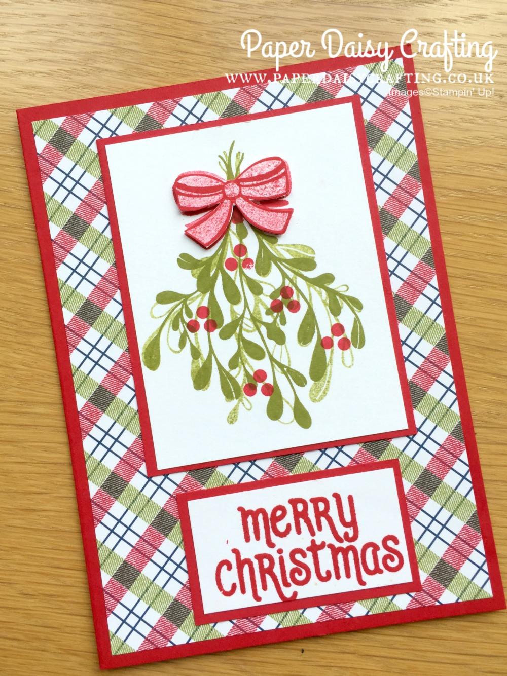 Paper Daisy Crafting: Mistletoe Season Christmas card video tutorial