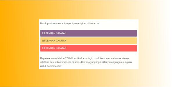 cara membuat kotak catatan warna warni di blog