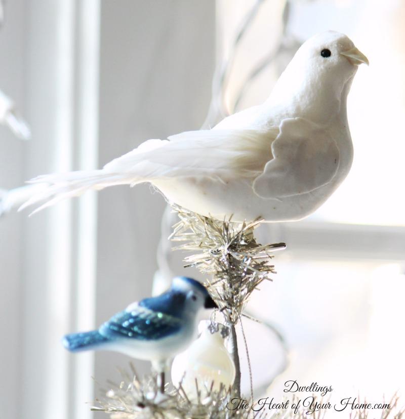 Christmas Tree Doves: Christmas Sparkle Farmhouse Kitchen & Tour Of Homes