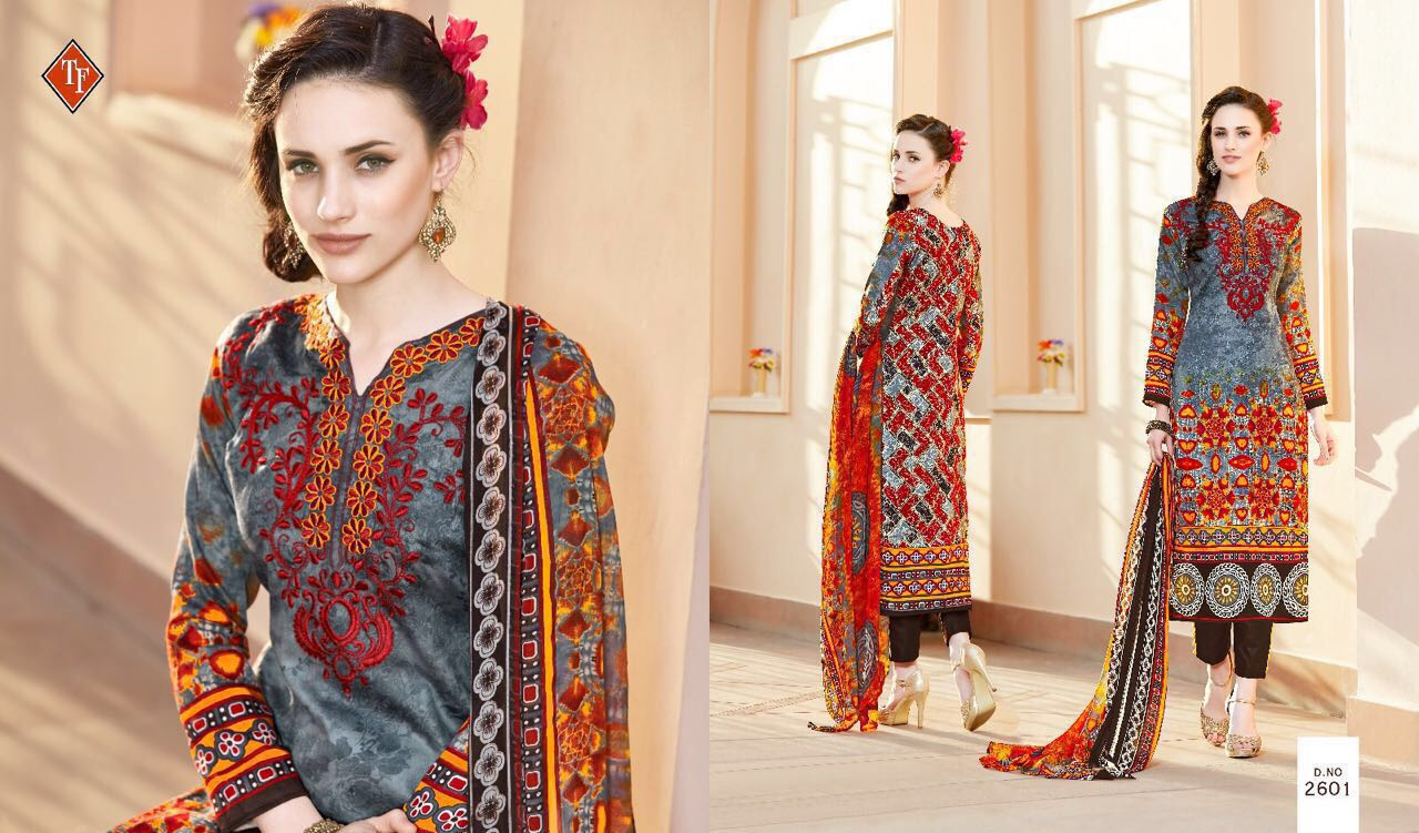Sana Gul 2 – Glace Cotton With Embroidery Work Dress Material