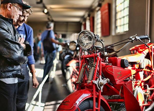 Tarihi motosiklet fabrikası 10 binkişi ağırladı