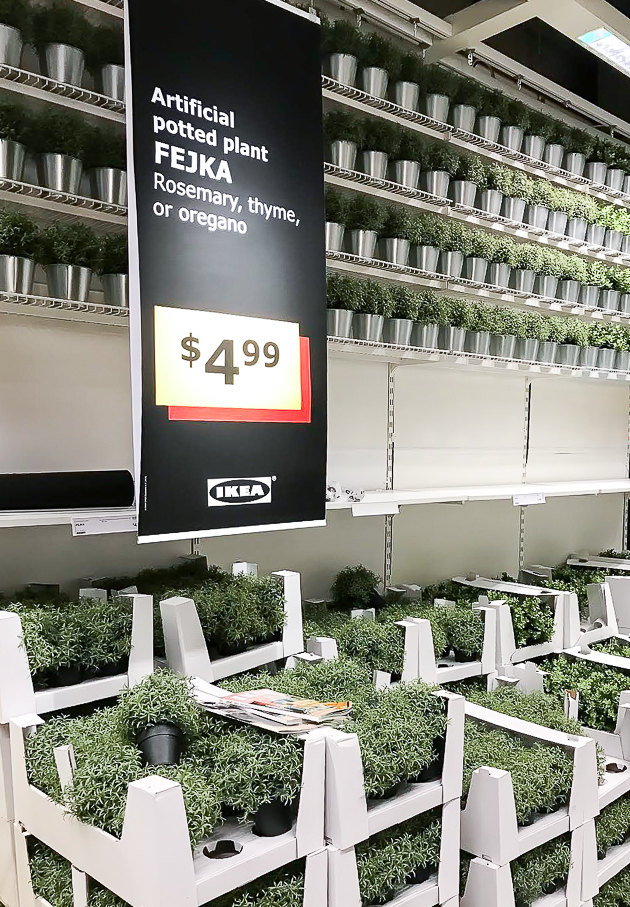 Affordable faux potted plants from IKEA