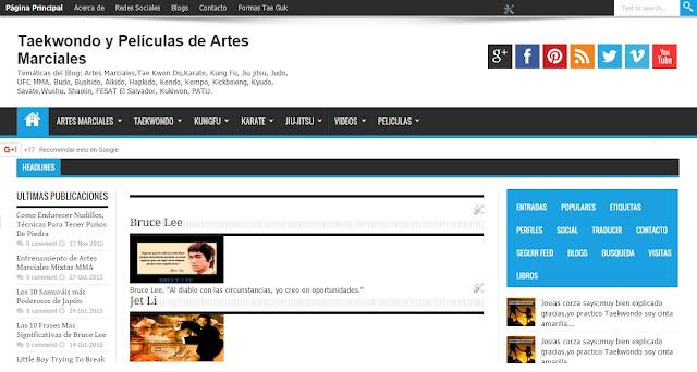 Blog de TaeKwonDo y Películas de Artes Marciales