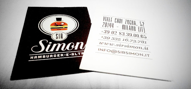 biglietto da visita Sir Simon
