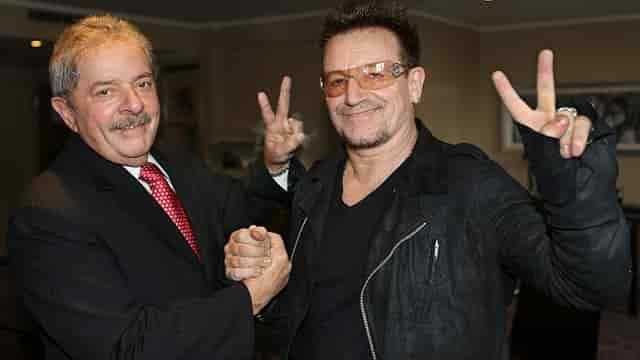 Pepe Mujica e Bono Vox